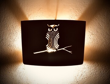 Wall lamp. Owl